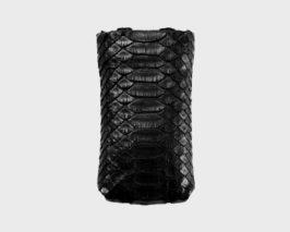 iPhone/iPod-Tasche-Case-Etui-Pythonleder-schwarz