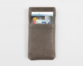 iPhone Case Vintage Lammleder grau