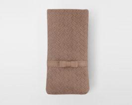 iPhone Huelle geflochtenes Leder mit Schleife