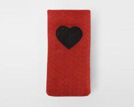 iPhone Case Valentine Braid red black