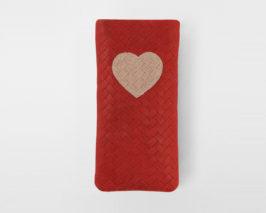 iPhone Case Valentine red nude geflochten Braid