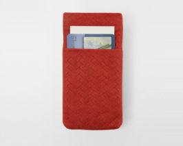 iPhone Card Case geflochten rot Braid