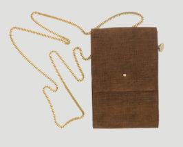 Lederbeutel kleine Tasche braun