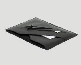 Laptop Macbook Huelle Leder schwarz