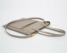 lapaporter Ledertasche laptop shopper grau