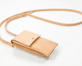 iPhone case zum umhängen aus Leder